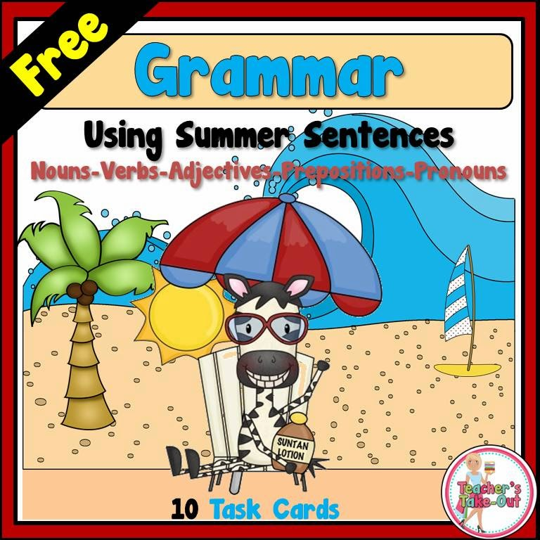 Free Grammar Sentences for Summer