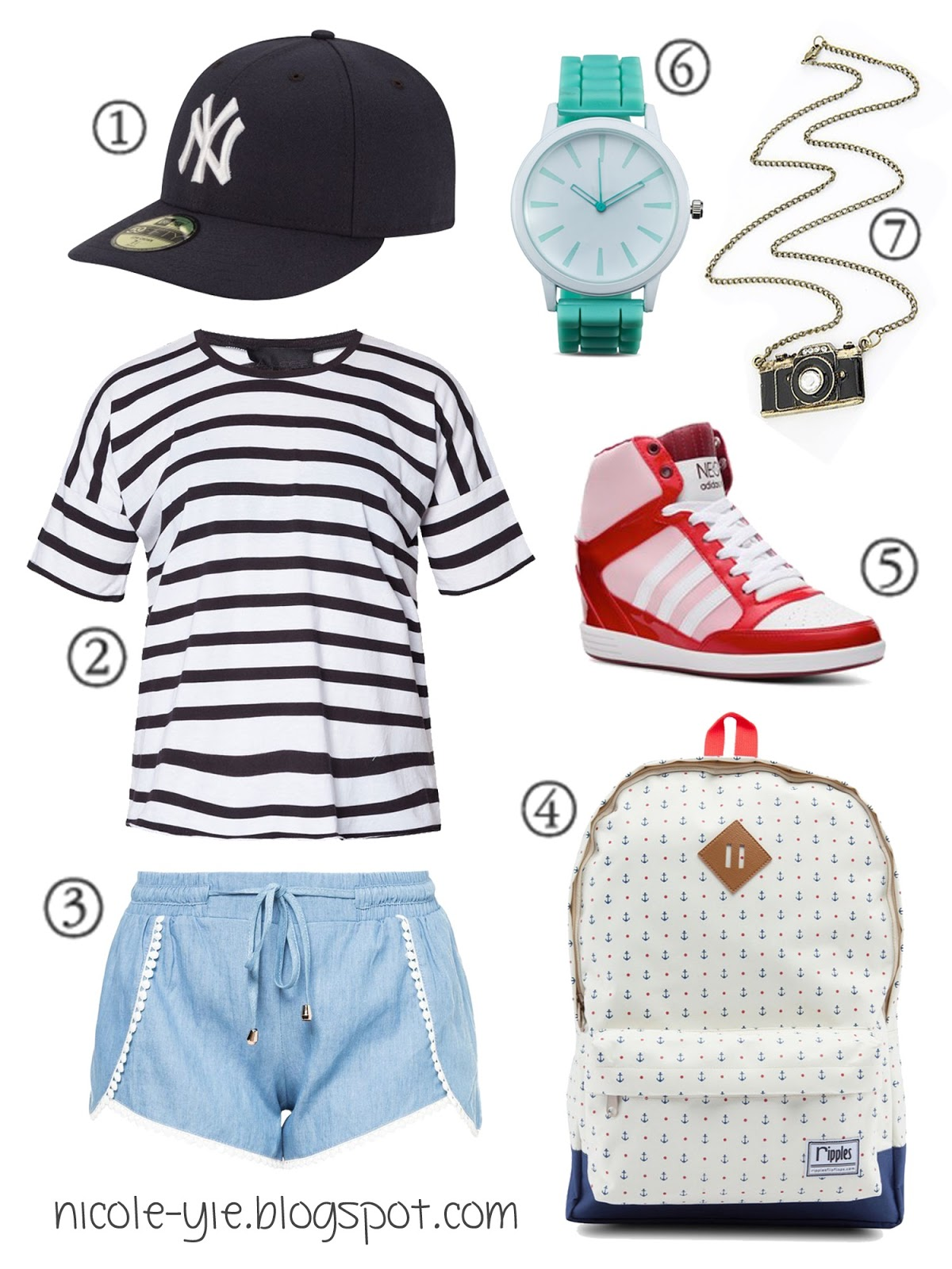 So here's an outfit idea by myself to create a sporty look with baseball  hats! - Fashion] Outfit Idea With Baseball Hat Nicole Yie