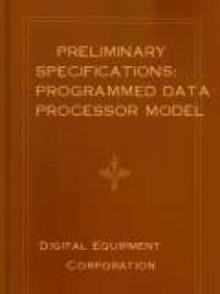 Preliminary Specifications: Programmed Data Processor Model Three