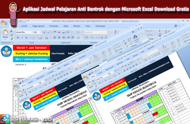 Aplikasi Jadwal Pelajaran Anti Bentrok dengan Microsoft Excel Download Gratis