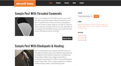 Eleven 40 Blogger Template