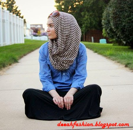 Gaya Jilbab Timur Tengah Urban Klasik