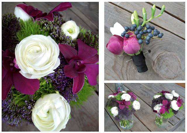 purple centerpiece polo fields ann arbor wedding flowers sweet pea floral design vintage rose hydrangea tall centerpiece brides bouquet vintage rustic woodsy reception michigan florist
