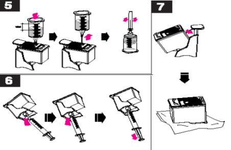cara refill tinta