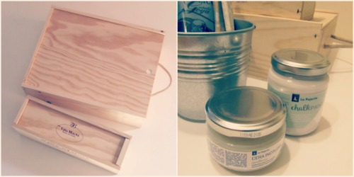 Materiales DIY decorar cajas de vino