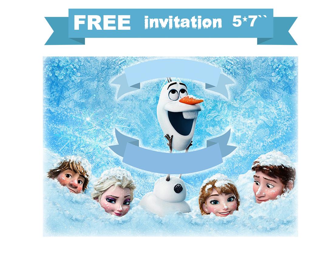 free printable invitation: Free Frozen snowman card.