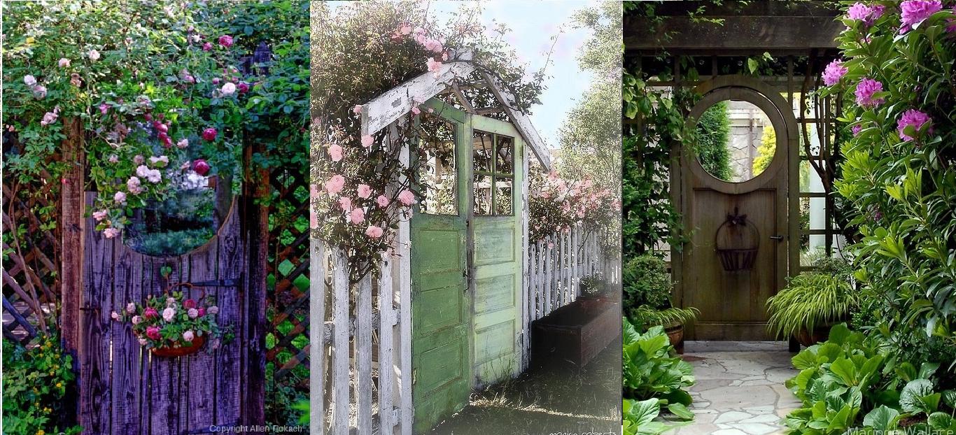 Decora el jard n con puertas viejas casas ideas - Puertas para jardines ...
