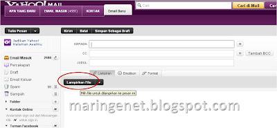 Cara Menambahkan Lampiran Email Yahoo