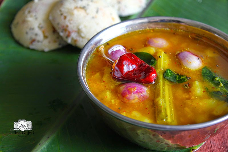 Sambar is a spicy, sweet, succulent South Indian stew of lentil and mixed vegetables. Find how to make quick vegetable sambar