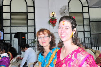 Susan and daughter at wedding, Bengaloru, India