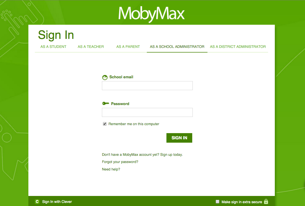 Moby Max Login