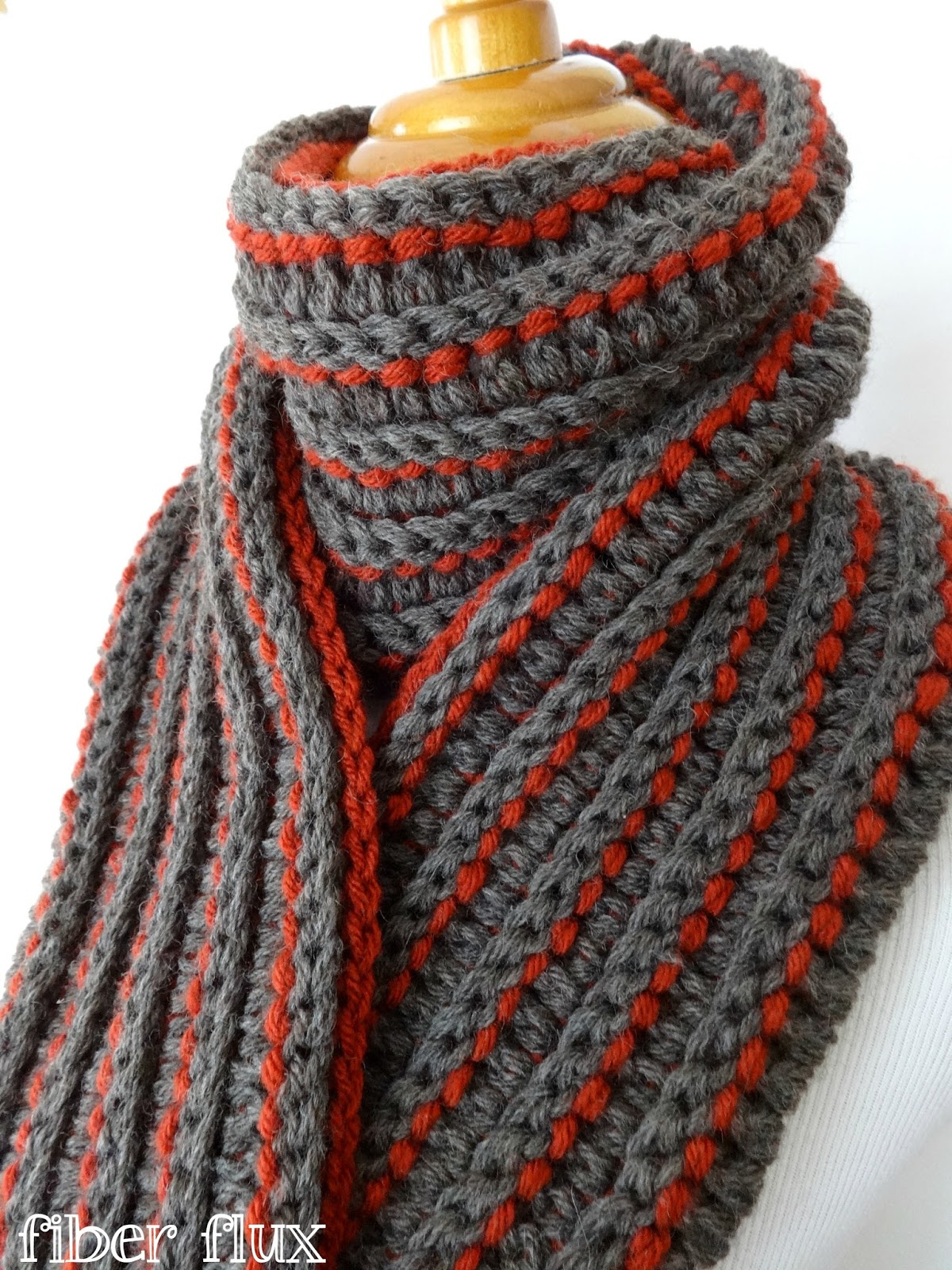 Crochet A Scarf : Fiber Flux: Free Crochet Pattern...The Every Man Scarf