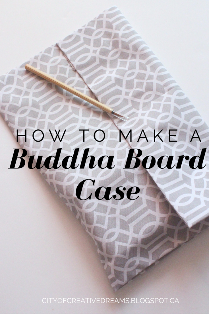 how to make a no sew buddha board case cover