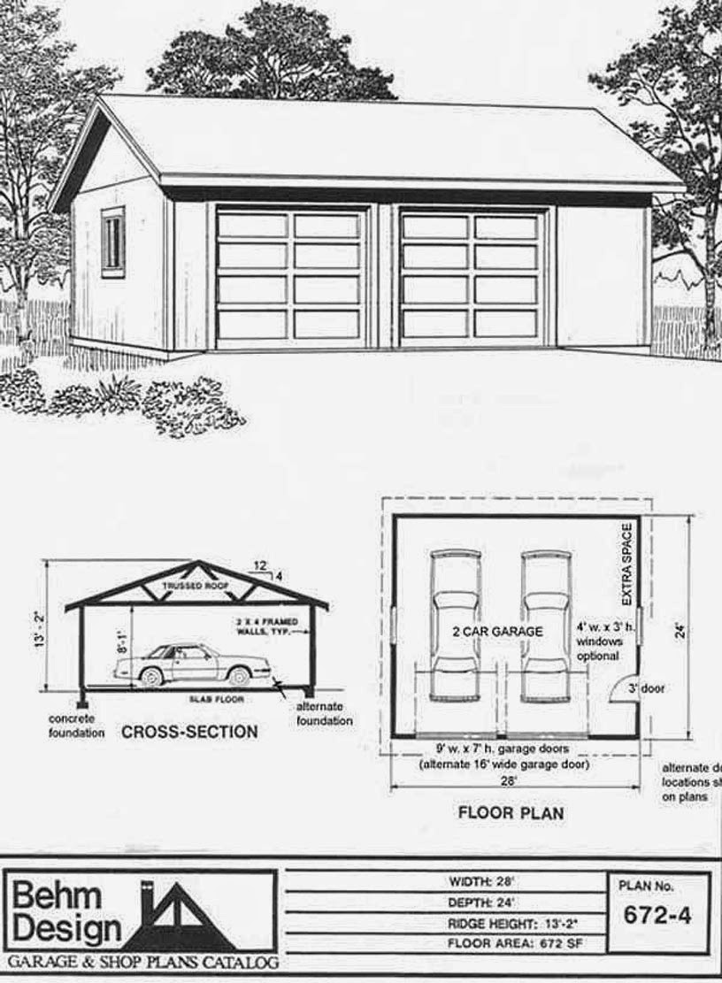 Garage plans blog behm design garage plan examples for 4 car garage plans