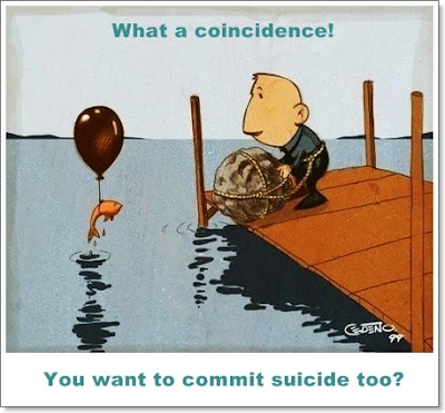 Suicide Coincidence Cartoon
