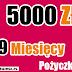 Pożyczka pozabankowa długoterminowa przez internet. Pożyczka TAKTO 5000 zł na 9 miesięcy.