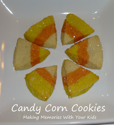 Candy Corn Cookies - Making Memories With Your Kids