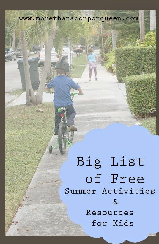 Summer is a great time to take the kids out to do something really fun and unwind. It can also be a really expensive time of year if you aren't careful. I have put together a list of activities and resources to make your summer a little bit more affordable while keeping it fun.