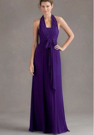 Halter Dress on Dresses 1173 Chiffon Halter A Line Long Bridesmaid Dress Html