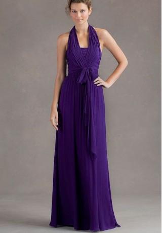 Halter Dress on Dresses 1173 Chiffon Halter A Line Long Bridesmaid Dress Html