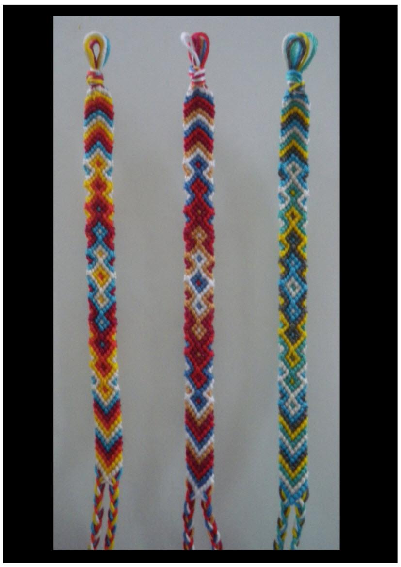 Bracelet bresilien 3 couleurs technique