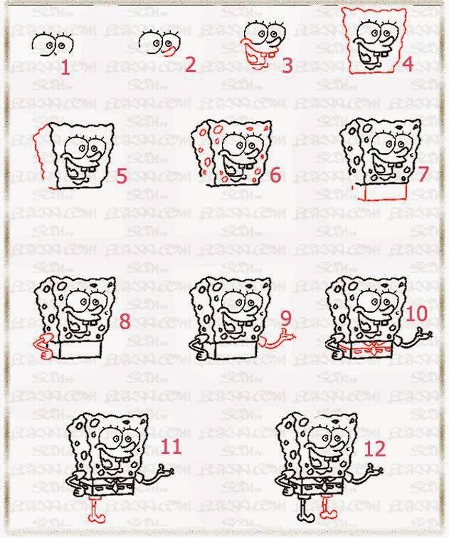 Spongebob Squarepants Drawings Step By Step October 2014 - ...