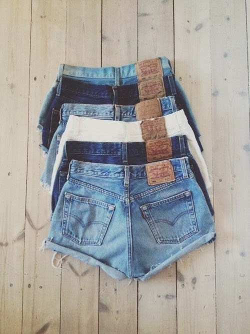 light wash dark wash denim cutoffs high waisted denim shorts