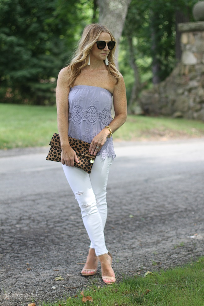 nightcap tube top, j brand jeans