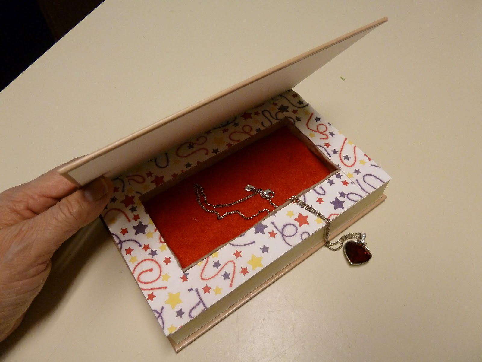 Make it easy crafts Recycled book secret jewelry box