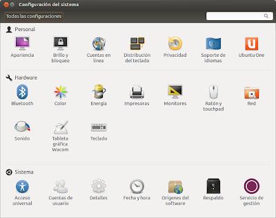 Configurar el sistema, novedades ubuntu 12.10