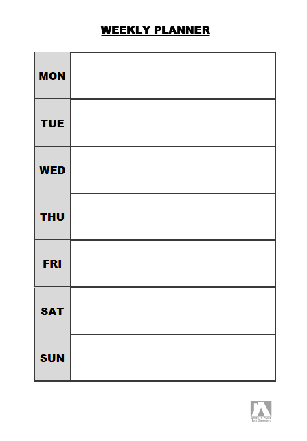 week plan template