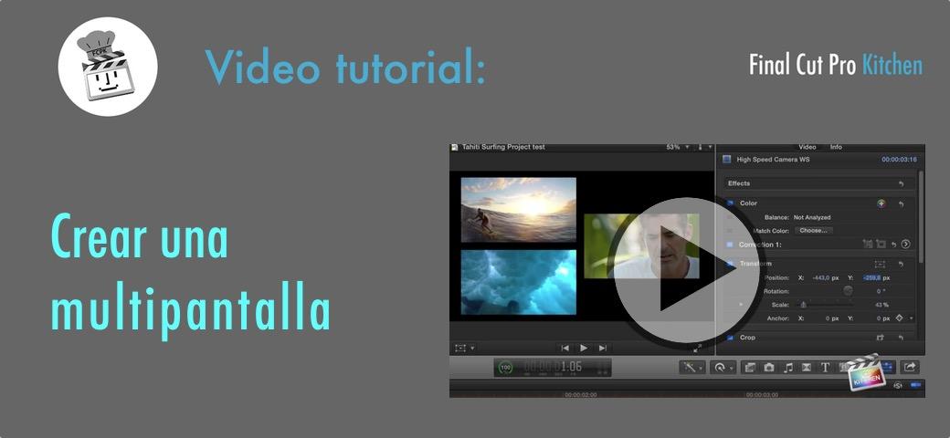 multipantalla con fcp x tutorial