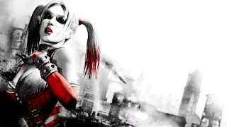 Harley Quinn Grey Red Awesome HD Wallpaper