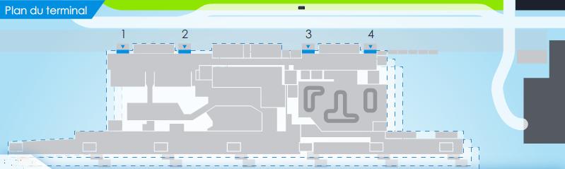 Схема аэропорта Шарлеруа :