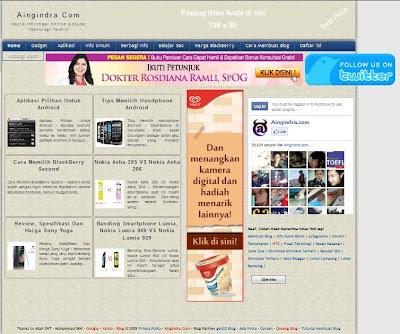 Aingindra.com - Informasi Harga Blackberry Dan Cara Membuat Blog