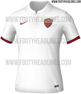 gambar detail gambar ilustrasi Bocoran jersey AS Roma away terbaru Nike musim 2015/2016