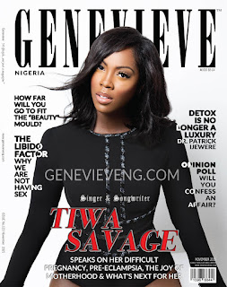 Tiwa Savage covers Genevieve magazine