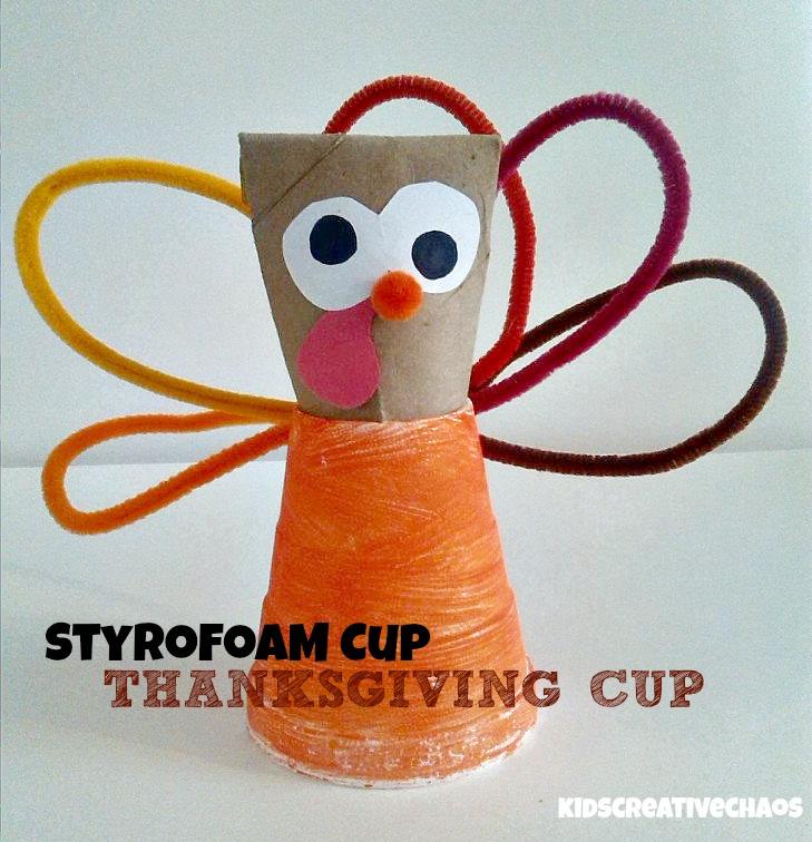 Kids Creative Chaos Styrofoam Cup Turkey Craft
