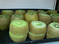 Sliced Kiwi on Tray