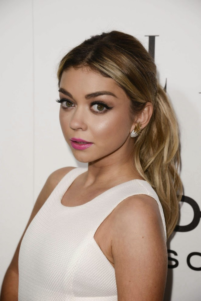 Sarah Hyland in a DKNY dress at Elle's Annual Women in Television Celebration
