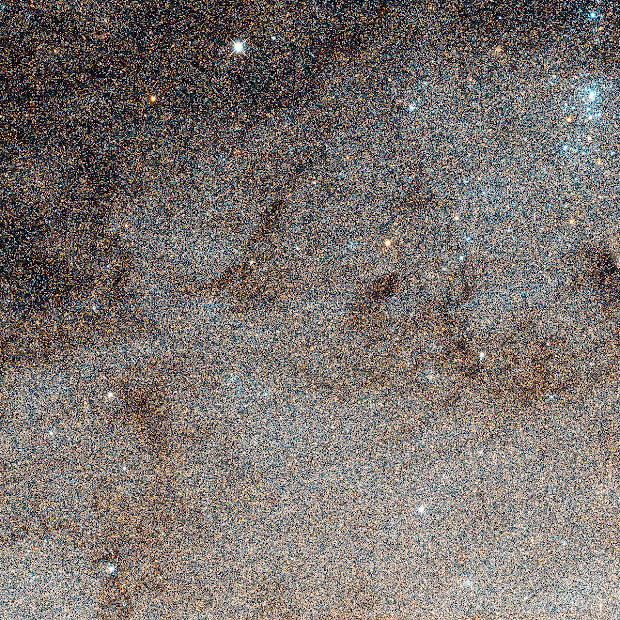 Star Field around the Cepheid V1 in M31 as seen by Hubble