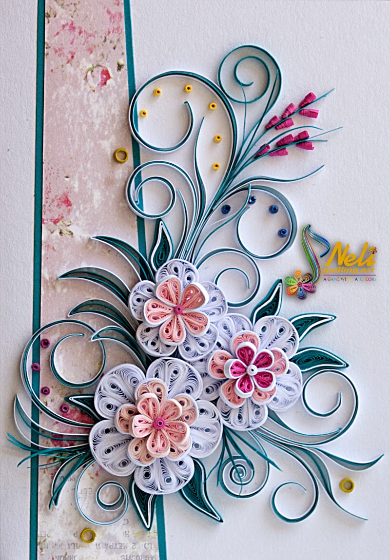 Neli quilling art quilling card 14 8 cm 10 5 cm for Quilling paper art