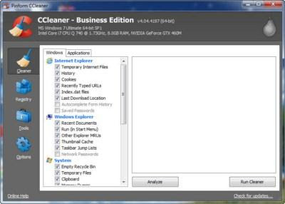 CCleaner Professional and Business Edition