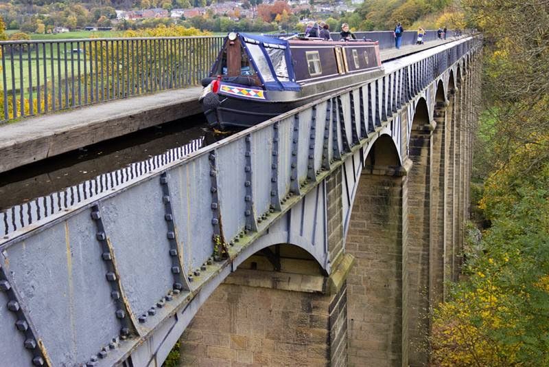 Pontcysyllte aqueduct on the llangollen canal. Pontcysyllte is pronounced 'pont-ker-suth-tee'.