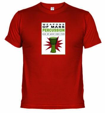 Camisetas de percusión en EE.UU., Francia, Inglaterra e Italia