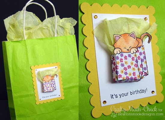 Newton's Birthday Bash Gift Bag by Crafty Math-Chick for Newton's Nook Designs