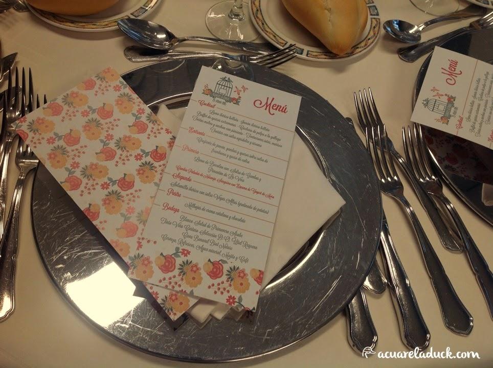 diseño menú bodas