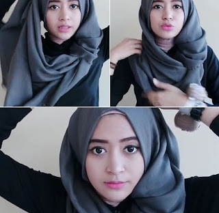 Tutorial Hijab Pashmina Casual
