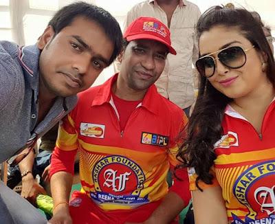 Sanjay Bhushan, Nirahua and Amrapali Dubey
