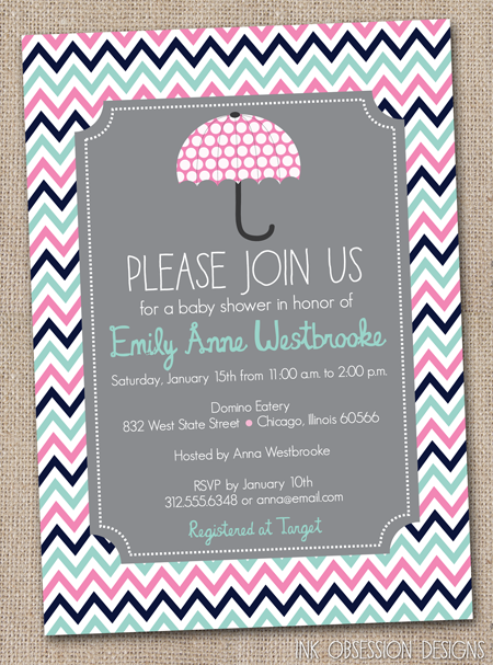 Pink And Gray Baby Shower Invitations feliciadayus